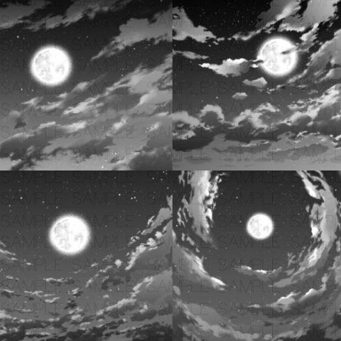 夜空トーン4種サムネ